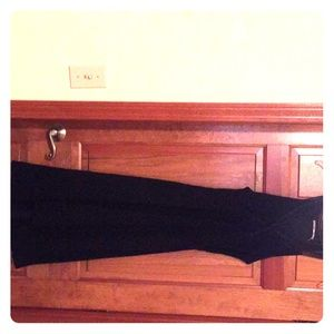 Max studio Black silk Gauzy Dress Romantic lace